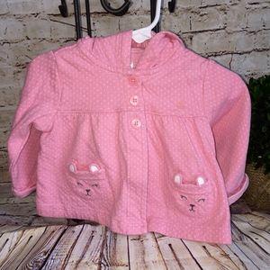 Carter's Baby Girls Hoodie Bunny Jacket